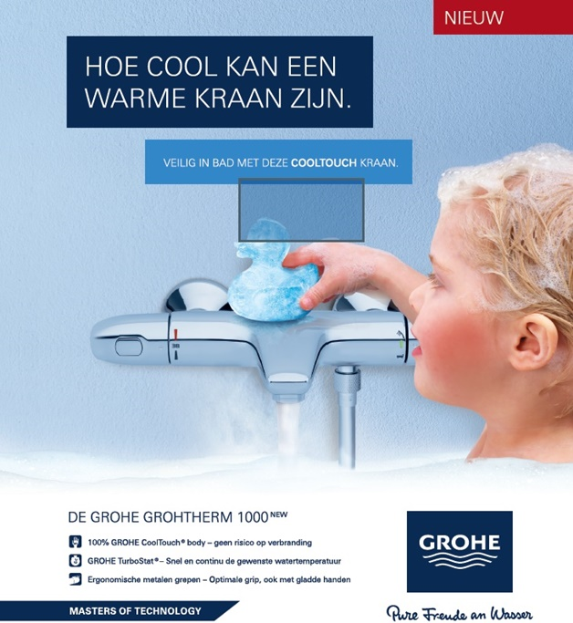 grohe cooltouch grohtherm 1000 new 2 - Kids tip | Veilig douchen/badderen met Grohe cooltouch