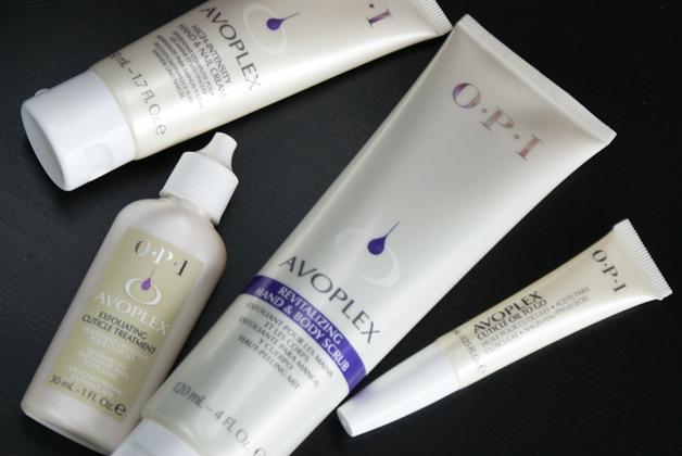 OPI Avoplex hand scrub, exfoliating cuticle treatmend, hand & nail cream + cuticle oil to go