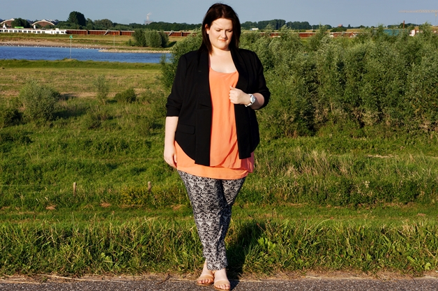 outfit printbroek 2 - Plussize outfit | The printed trousers