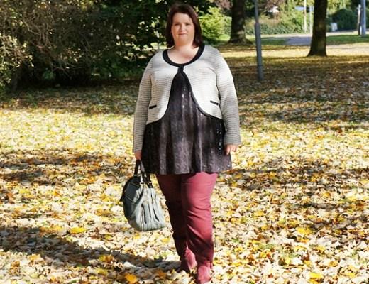 outfitberryshinyautumn1 - Plussize outfit   Berry shiny autumn