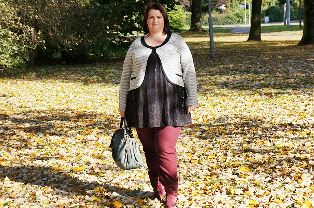 outfitberryshinyautumn1 - Plussize outfit | Berry shiny autumn