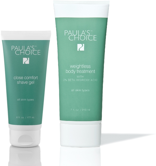 Newsflash | Paula's Choice close comfort shave gel & weightless body treatment