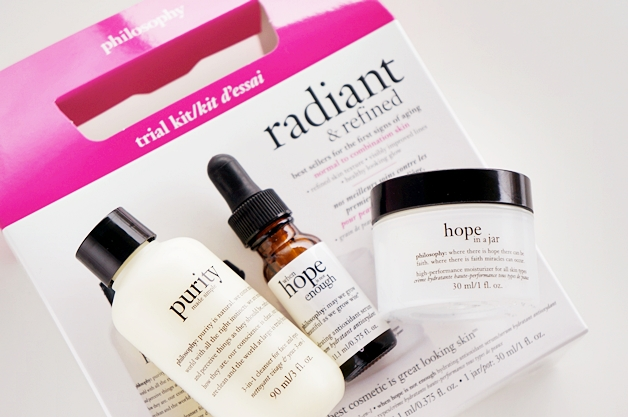 philosophy radiant refined trial kit 1 - Favoriete beautyproducten november 2014