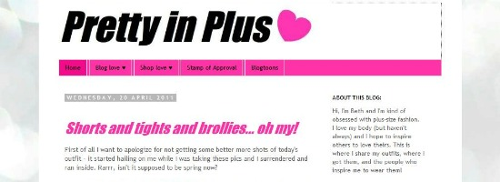 Plus Size Blog: Pretty in Plus