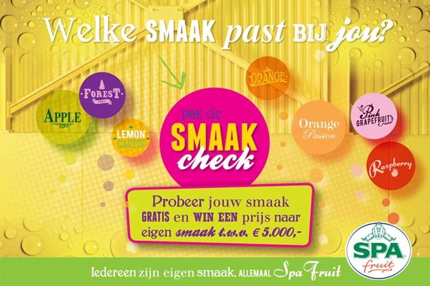 smaakcheck1 - Doe de Spa Smaakcheck en probeer jouw variant gratis uit!