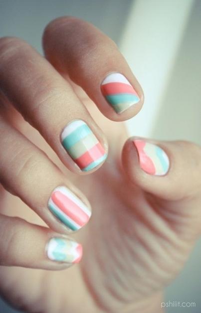 summer nail art inspiratie 9 - Inspiratie | Soft summer nail art