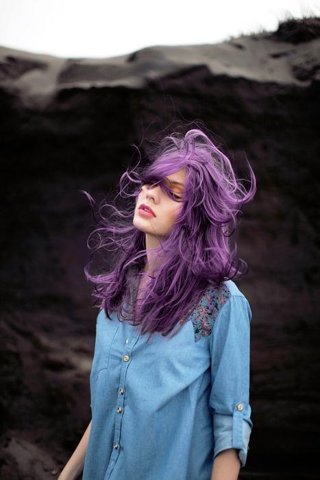 trend purple hair2 - Inspiratie | Paars haar