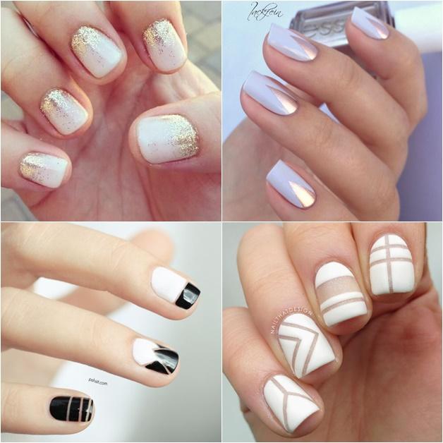 witte nail art 5 - Inspiratie | Witte nail art (en de perfecte witte nagellak)