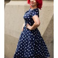 Rainy Days and White Dots ~ The Hell Bunny Madden Dress Review