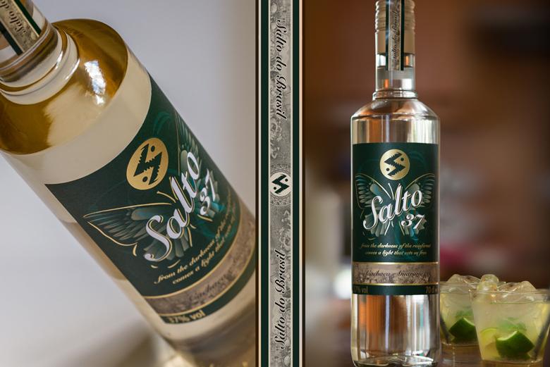 Spirits Packaging Design - Salto 37 Brazilian Cachaça with Guarana