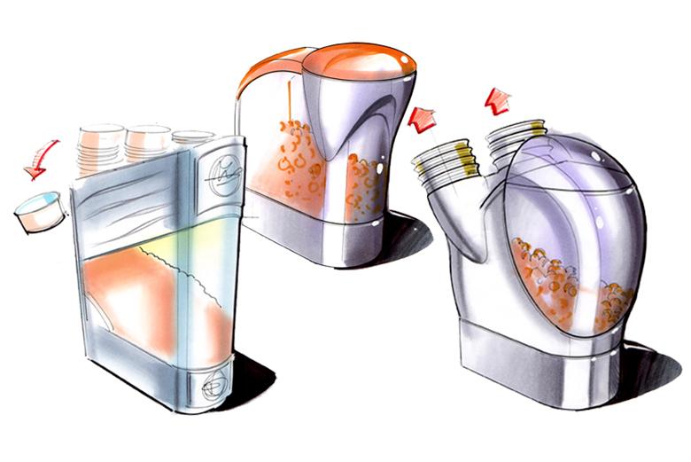 design concepts for Saharas snack dispensing system