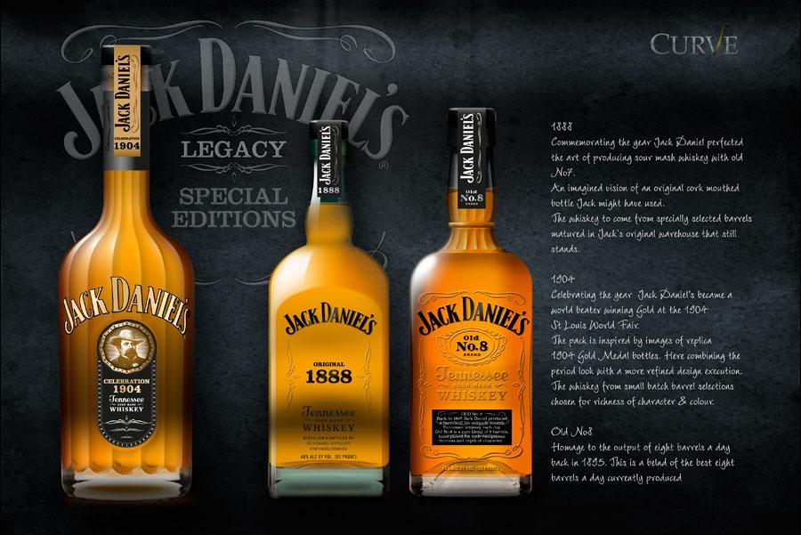 Jack Daniel's new product development packaging design concepts