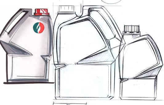 ENOC bottle design, early concept sketches