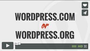 WordPress .com or .org?