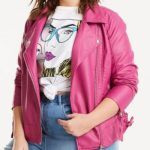 plus size biker jacket