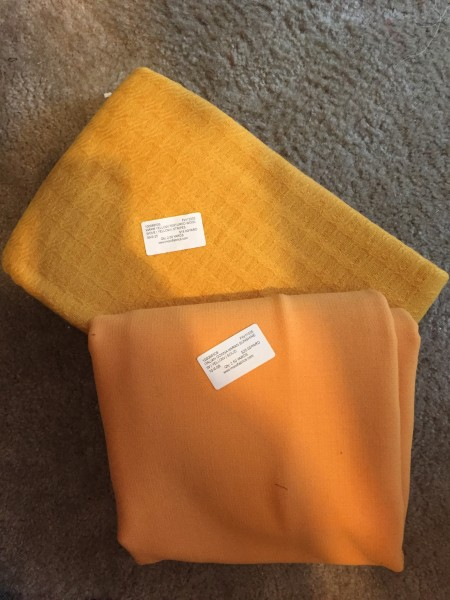 Yellow Wool Coating Fabric