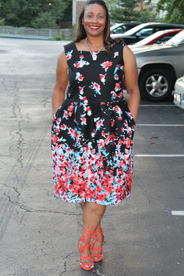 Floral Dress McCalls 3763