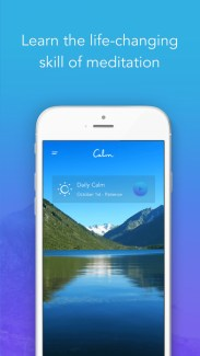 Release Stress with the Calm app
