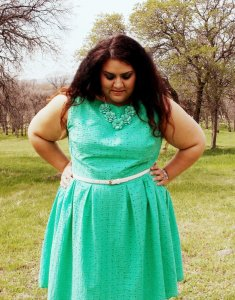 Butterick 5982 in mint cotton eyelet