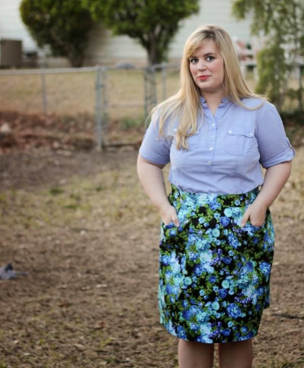 Blue Floral Peggy Skirt - BlueGingerDoll Patterns - Idle Fancy (62)