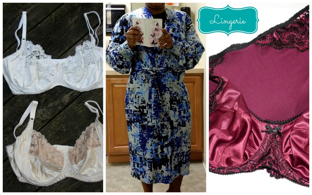 lingerie robe collage