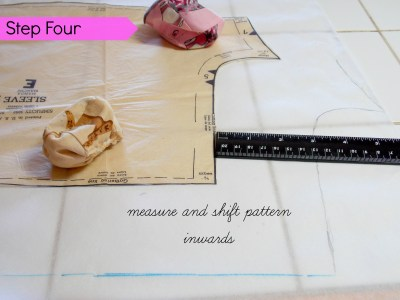 step 4 measure distance shift sleeve