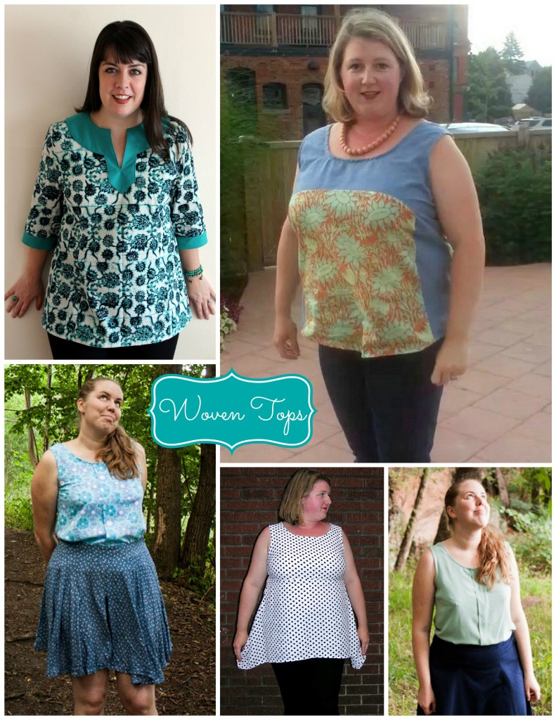 woven top collage
