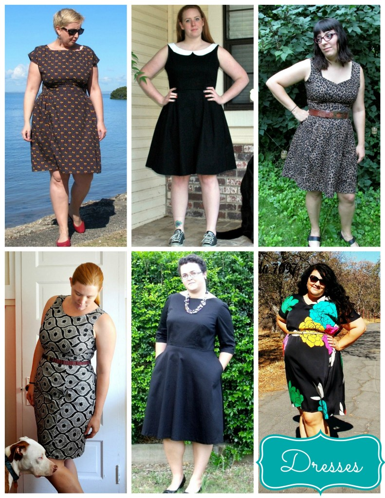 dresses blacks greys collage