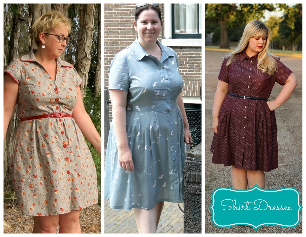 shirt dresses collage