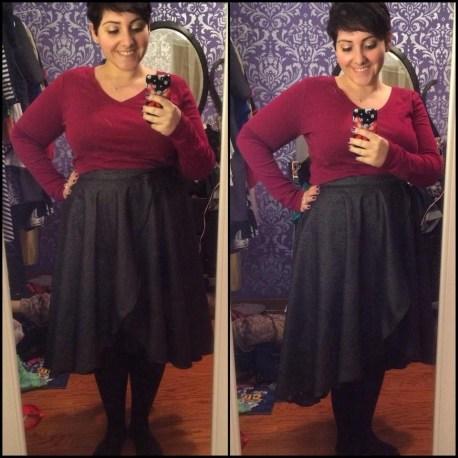 wool cascade skirt