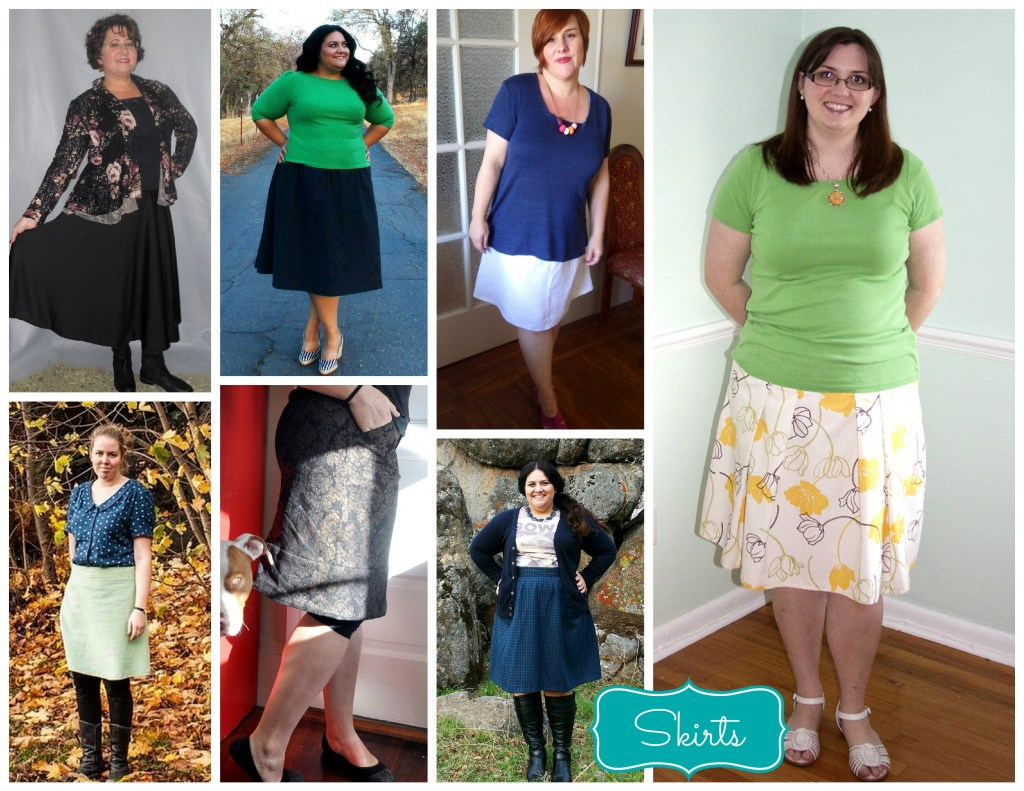 skirts collage