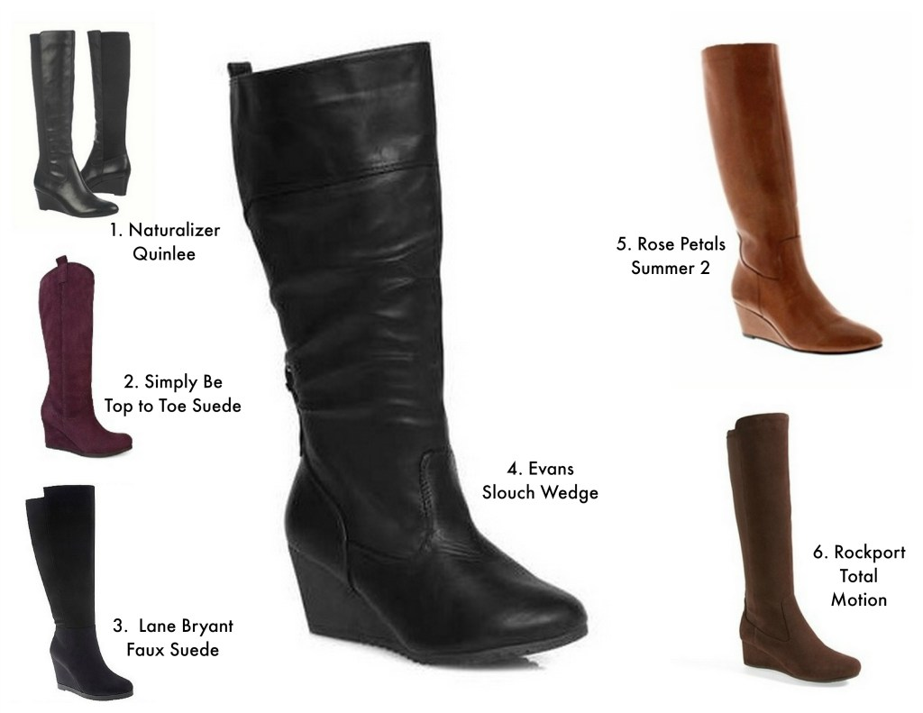 wedge boots collage
