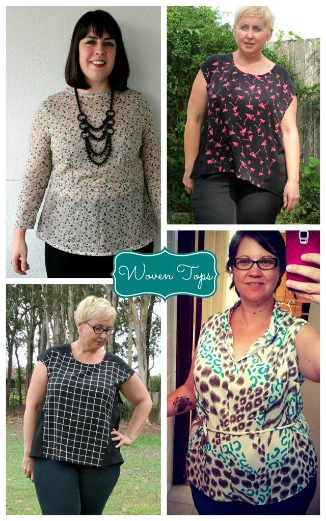 woven tops collage