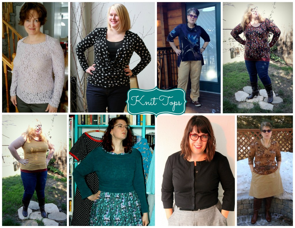 knit tops collage