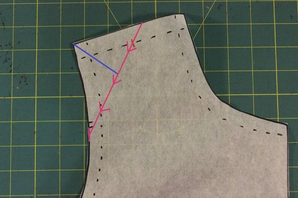 Narrow Shoulder Adjustment - cutting