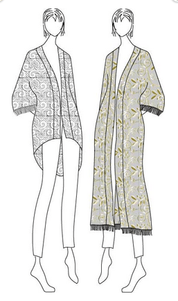 Designer Stitch - Willow kimono