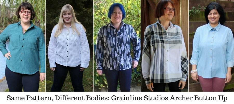 Same Pattern, Different Bodies: Grainline Studios Archer Button Up