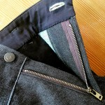 Making trousers: a steamed crossgrain waistband