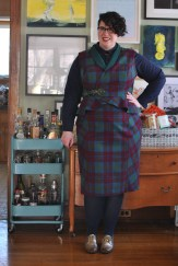 Self-drafted vest and skirt with Cashmerette Harrison shirt