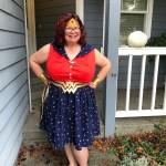 Pattern Review: Simplicity 8481 (Rockabilly-style Wonder Woman and Bat Girl dresses)
