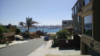 The view from the front stoop of the condo