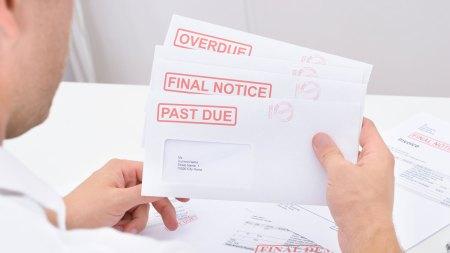 Past due debt envelopes