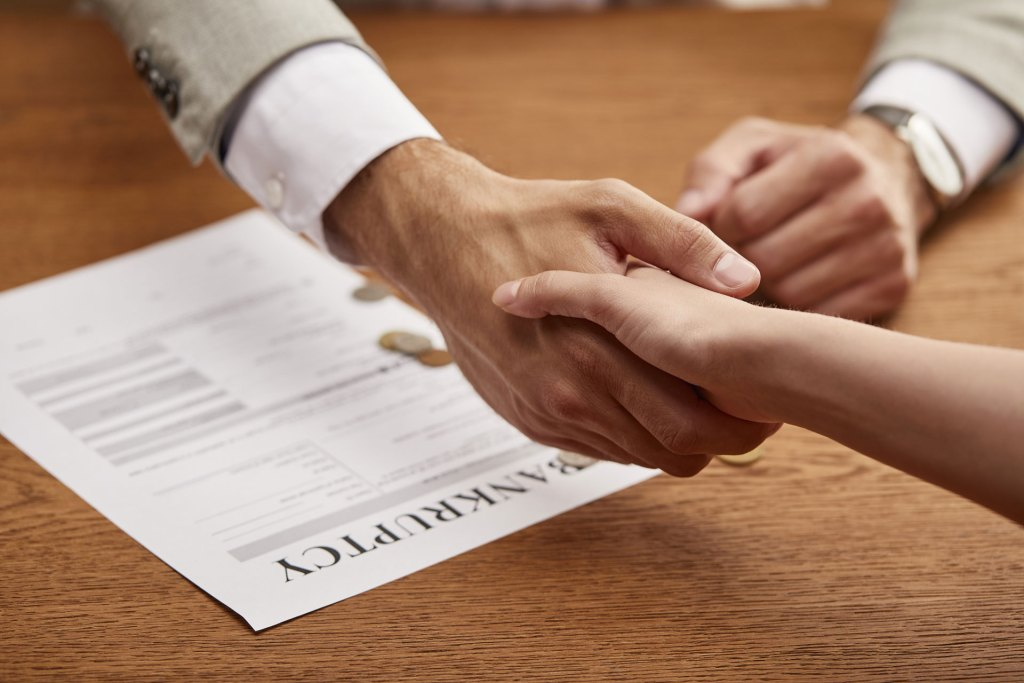 handshaking over bankruptcy petition forms