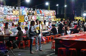 flower night market, tainan, taiwan
