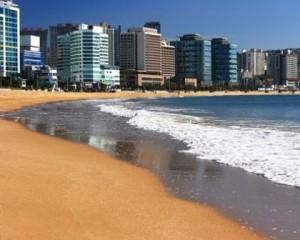 beach, busan, korea