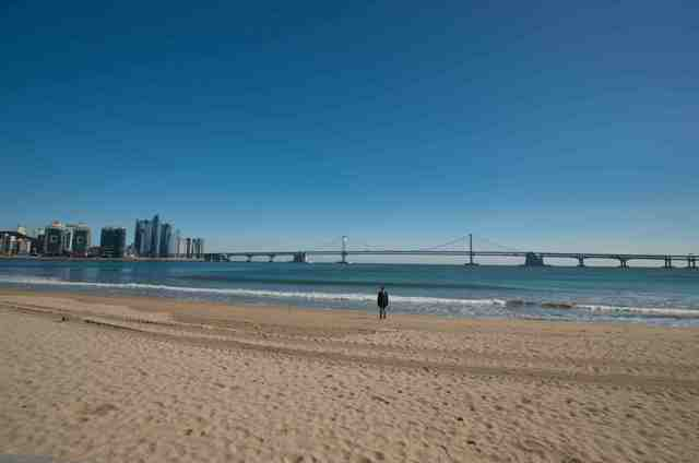 beach, busan, korea