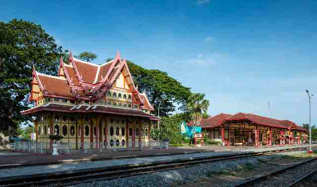 train station, thailand, hua hin