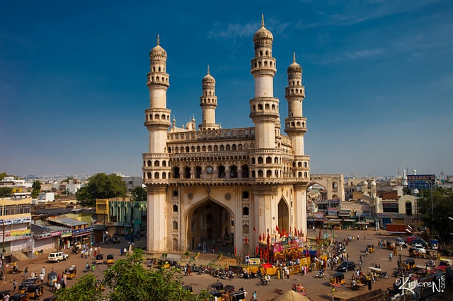 monument, hyderabad, india, charminar