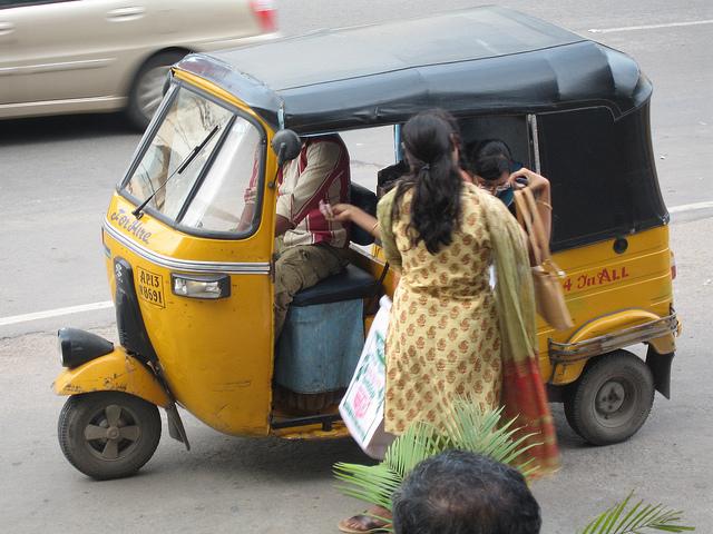 getting around hyderabad, india, autorickshaw
