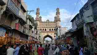Lad Bazaar. shopping, hyderabad, india